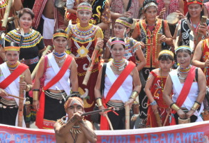 Dayak tribes people from West Kalimantan